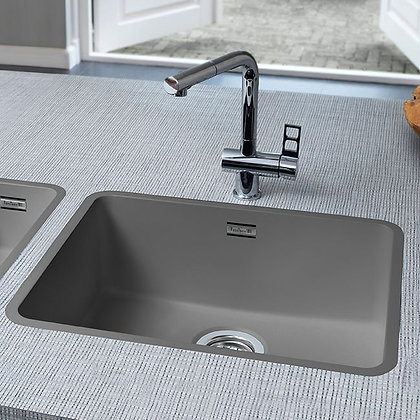 Reginox Ohio Regi-Colour Single Bowl Kitchen Sink Atomic Grey L50x40