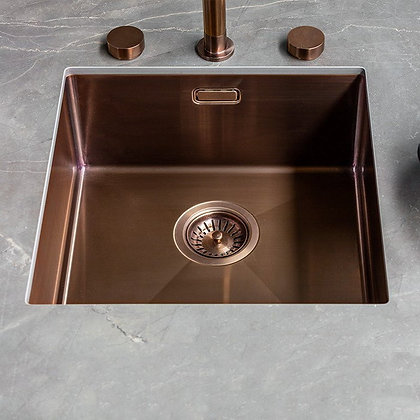 Reginox Miami Single Bowl Kitchen Sink Copper L40x40