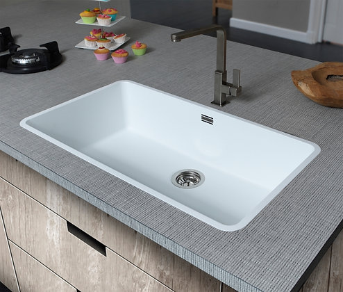 Reginox Ohio Regi-Colour Single Bowl Kitchen Sink Arctic White L80x42