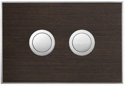 Valsir Dual Flush Push Plate for Winner S - Wood Weng