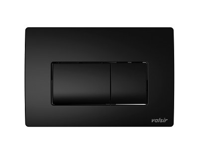 Valsir Dual Flush Push Plate for Winner S - P1 Matt Black