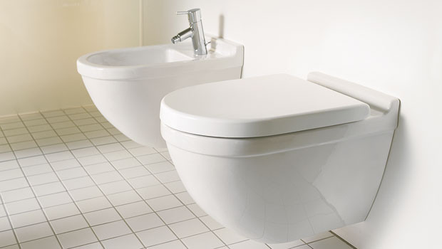 Duravit Starck 3 Wall Mounted WC Bowl and Bidet
