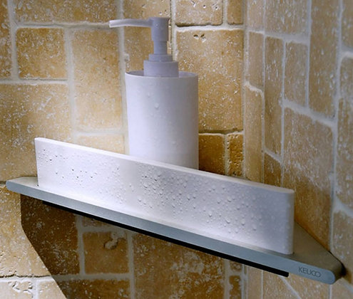 Keuco Edition 400 Corner Shower Shelf w/ Wiper 11557
