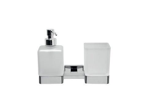 Inda Lea Wall Mounted Tumbler Soap Dispenser Set 1810D