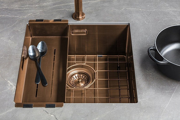 Reginox Miami Single Bowl Kitchen Sink Copper L50x40