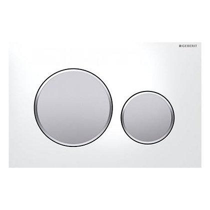 Geberit Sigma 20 Dual Flush Push Plate - White w/ Matt Buttons