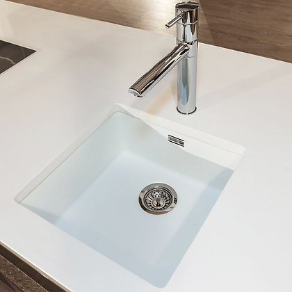 Reginox Ohio Regi-Colour Single Bowl Kitchen Sink Arctic White L40x40