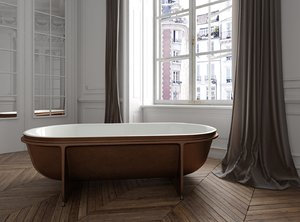 Falper Contrastampo Freestanding Bathtub WA6 178x88cm