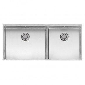 Reginox New York Double Bowl Kitchen Sink L50x40 + 40x40
