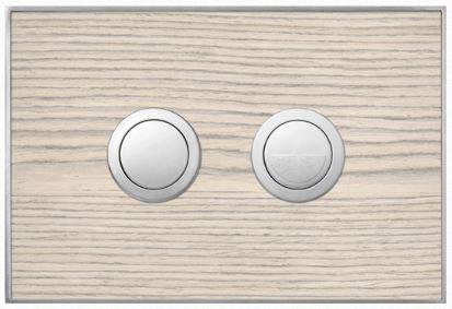 Valsir Dual Flush Push Plate for Winner S - Wood Blanc Oak
