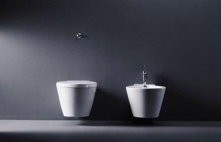 Duravit Starck 1 Wall Mounted WC Bowl and bidet