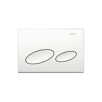 Geberit Kappa 20 Dual Flush Push Plate - White