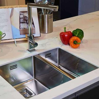 Reginox Texas Double Bowl Kitchen Sink L40x40+18x40