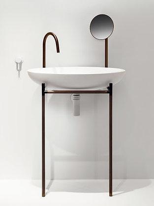 Falper Monsieur Freestanding Basin w/ Mirror WMS L70xW43xH130cm