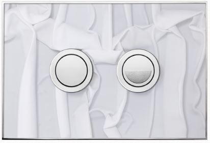 Valsir Dual Flush Push Plate for Winner S - Fantasy White