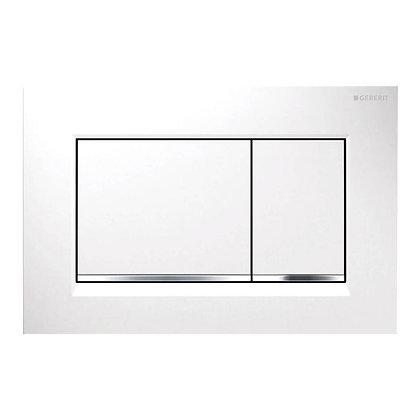 Geberit Sigma 30 Dual Flush Push Plate - White w/ Bright Border