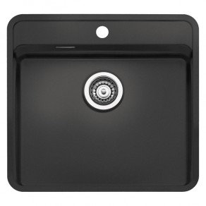 Reginox Ohio Regi-Colour Single Bowl Kitchen Sink w/ TapWing Midnight Sky L50x40