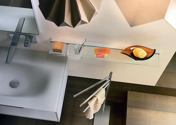 nda New Europe Vanity Shelf w/ Double Holder 4983A
