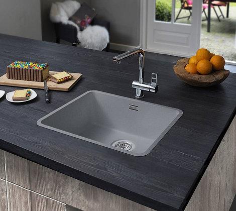 Reginox Ohio Regi-Colour Single Bowl Kitchen Sink Atomic Grey L40x40