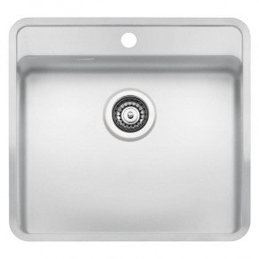 Reginox Ohio Regi-Colour Single Bowl Kitchen Sink w/ TapWing Arctic White L50x40