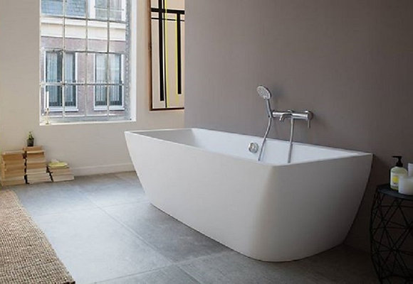 Duravit DuraSquare Freestanding Back to Wall Bathtub 700429