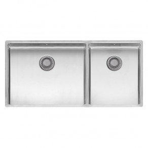 Reginox New York Double Bowl Kitchen Sink L50x40 + 34x40