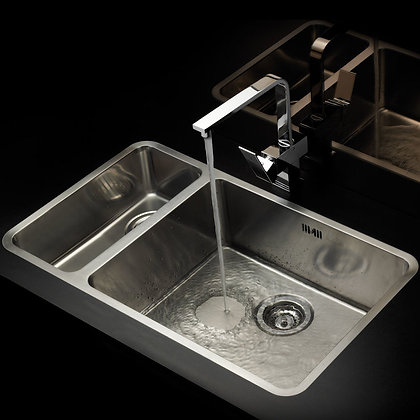 Reginox Ohio Double Bowl Kitchen Sink L50x40+18x40