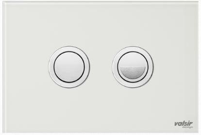 Valsir Dual Flush Push Plate for Winner S - Crystal White
