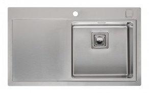 Reginox Phoenix Single Bowl Kitchen Sink w/ Drainer L40x40