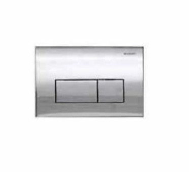 Geberit Kappa 50 Dual Flush Push Plate - Bright Chrome
