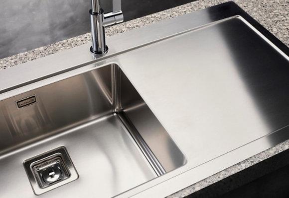 Reginox Phoenix Single Bowl Kitchen Sink w/ Drainer L50x40