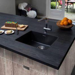 Reginox Ohio Regi-Colour Single Bowl Kitchen Sink Midnight Sky L50x40