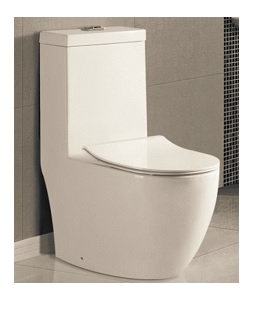 Vera One Piece WC w/ UF Soft Close Seat Cover A.032