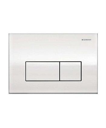 Geberit Kappa 50 Dual Flush Push Plate - White