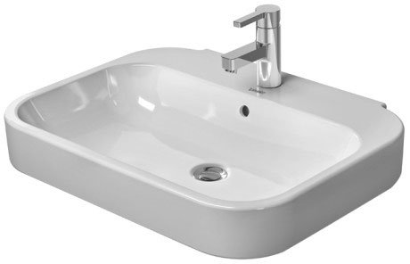 Duravit Happy d.2 Wall Mounted Basin 231665 (65x49.5cm)