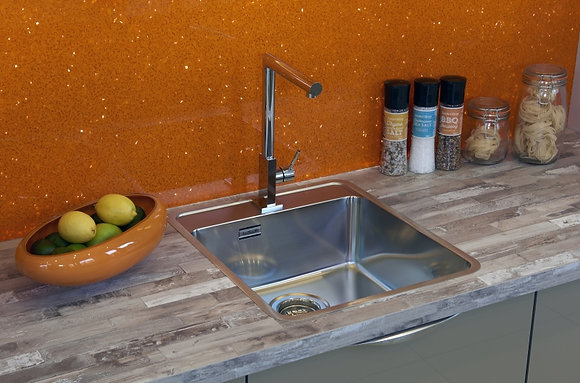 Reginox Ohio Single Bowl Kitchen Sink w/ Tapwing L40x40
