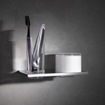 Keuco Edition 400 Double Holder for Tumbler and Lotion Dispenser