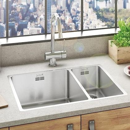 Reginox New York Double Bowl Kitchen Sink L34x40 + 18x40