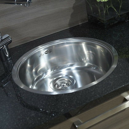 Reginox L18 390 OKG Round Single Bowl Kitchen Sink