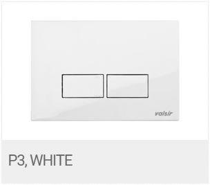 Valsir Dual Flush Push Plate for Winner S - P3 Glossy White