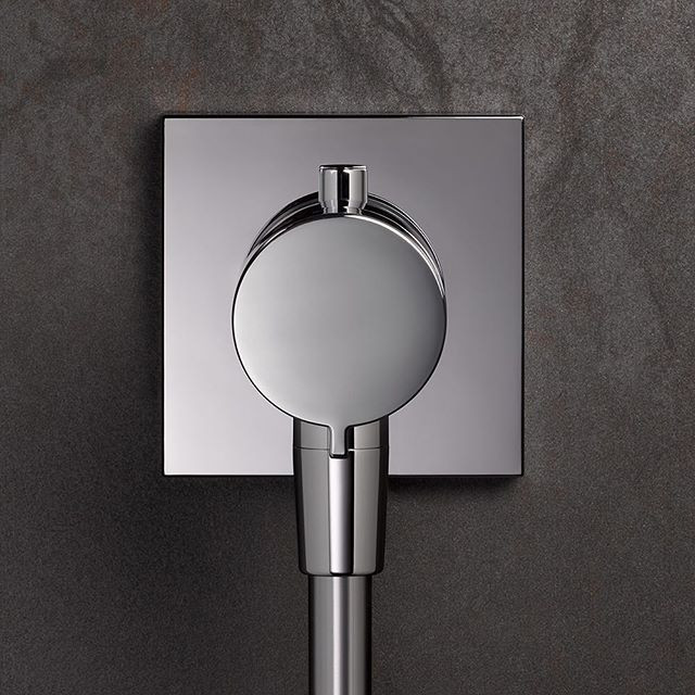 Keuco Ixmo Solo Thermostatic Shower Mixer w/ Square Base Plate