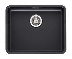 Reginox Ohio Regi-Colour Single Bowl Kitchen Sink Jet Black L50x40