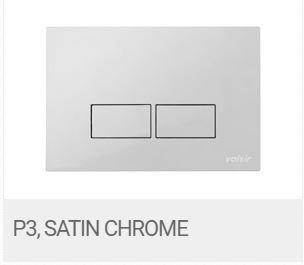 Valsir Dual Flush Push Plate for Winner S - P3 Satin