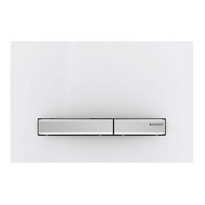 Geberit Sigma 50 Dual Flush Push Plate - White