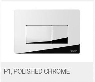 Valsir Dual Flush Push Plate for Winner S - P1 Polished Chrome