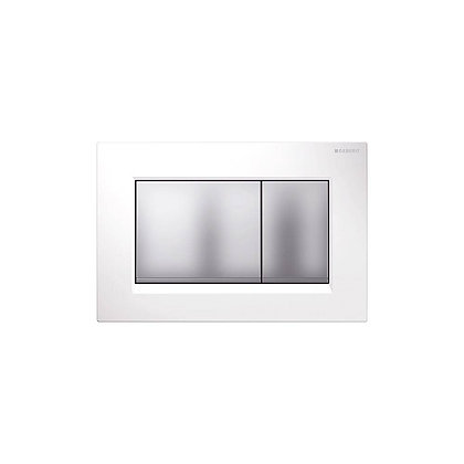 Geberit Sigma 30 Dual Flush Push Plate - White w/ Matt Buttons