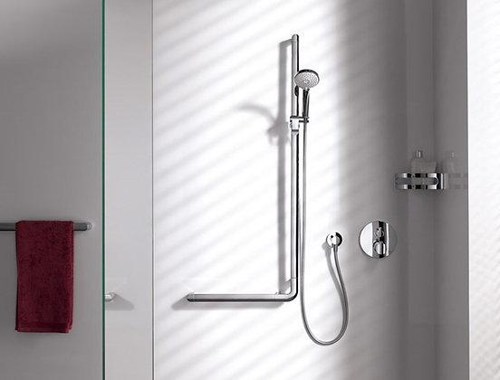 Keuco Elegance L-Grab Bar w/ Shower Holder 31606 right