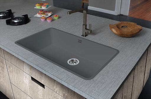 Reginox Ohio Regi-Colour Single Bowl Kitchen Sink Atomic Grey L80x42