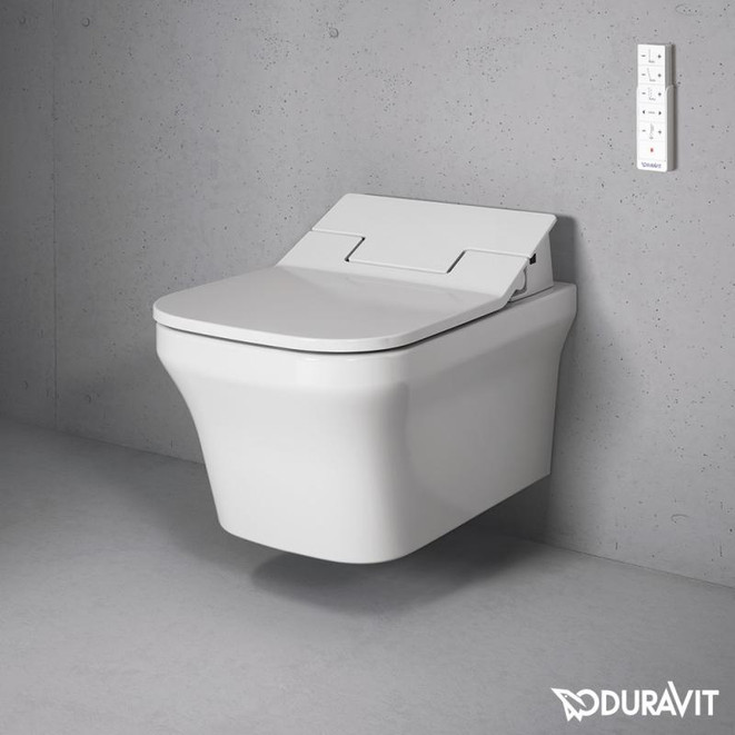 Duravit P3 Comfort Wall Mounted WC Bowl with Sensowash Slim