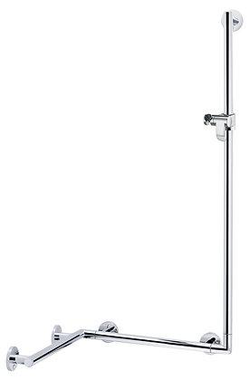 Keuco Plan Care Corner L-Grab Bar w/ Shower Holder 34908 (left/right hand)